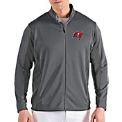 Antigua Men's Tampa Bay Buccaneers Passage Grey Full-Zip Jacket