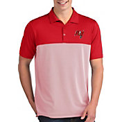 Antigua Men's Tampa Bay Buccaneers Venture Red Performance Polo