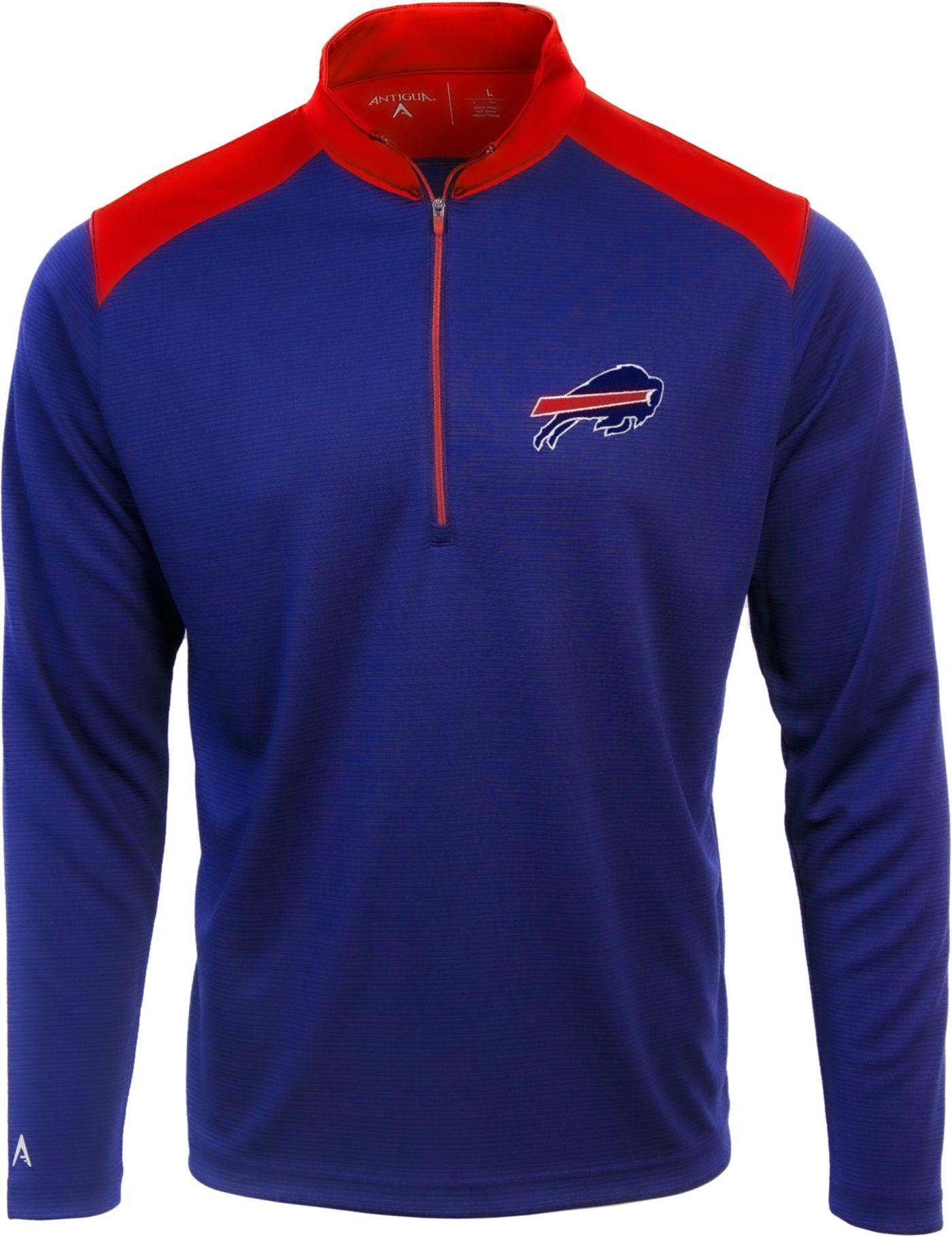 Antigua Men's Buffalo Bills Velocity Royal Quarter-Zip Pullover