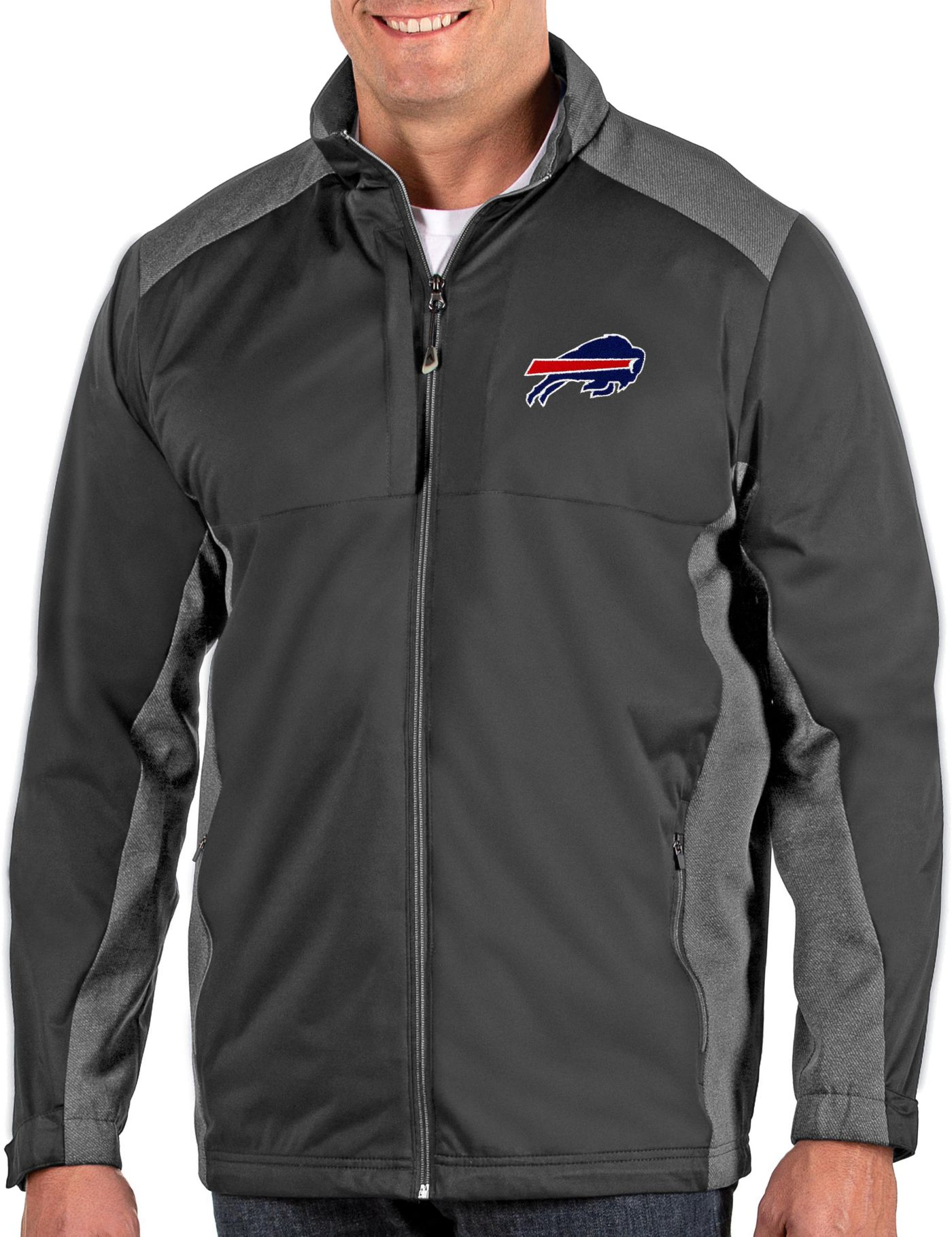 Antigua Men's Buffalo Bills Revolve Charcoal Full-Zip Jacket