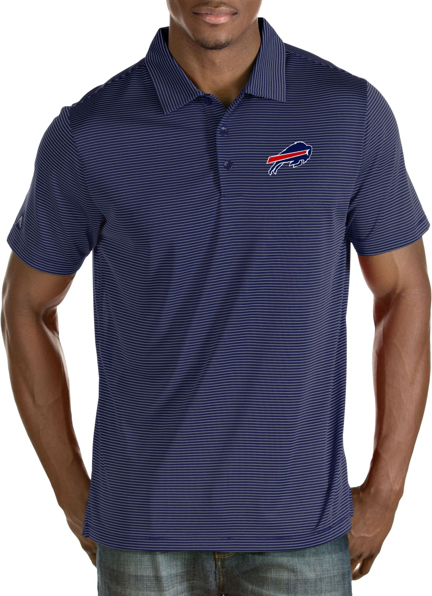 Antigua Men's Buffalo Bills Quest Royal Polo