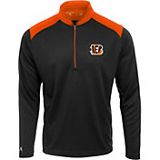 Antigua Men's Cincinnati Bengals Velocity Black Quarter-Zip Pullover
