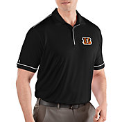 Antigua Men's Cincinnati Bengals Salute Black Polo