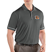 Antigua Men's Cincinnati Bengals Salute Grey Polo