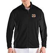 Antigua Men's Cincinnati Bengals Passage Black Full-Zip Jacket
