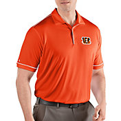 Antigua Men's Cincinnati Bengals Salute Orange Polo