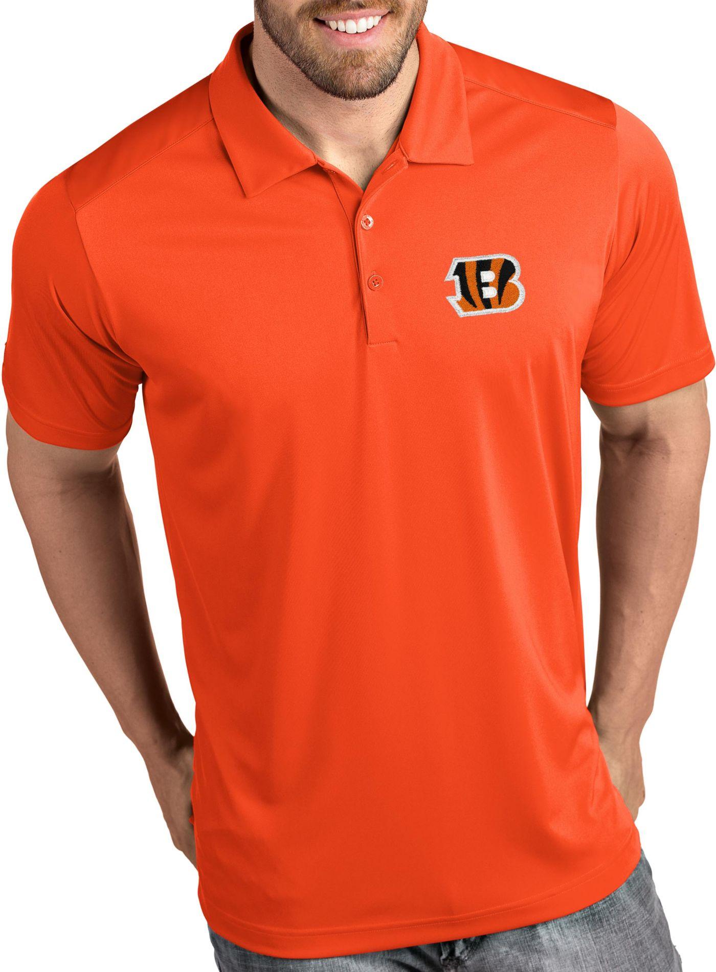 Antigua Men's Cincinnati Bengals Tribute Orange Polo