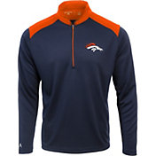 Antigua Men's Denver Broncos Velocity Navy Quarter-Zip Pullover