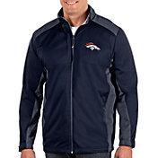 Antigua Men's Denver Broncos Revolve Navy Full-Zip Jacket