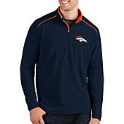 Antigua Men's Denver Broncos Glacier Navy Quarter-Zip Pullover