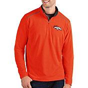 Antigua Men's Denver Broncos Glacier Orange Quarter-Zip Pullover