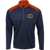 Antigua Men's Chicago Bears Velocity Navy Quarter-Zip Pullover