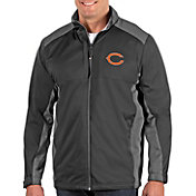 Antigua Men's Chicago Bears Revolve Charcoal Full-Zip Jacket