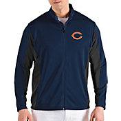 Antigua Men's Chicago Bears Passage Navy Full-Zip Jacket