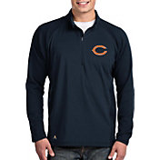 Antigua Men's Chicago Bears Sonar Navy Quarter-Zip Pullover