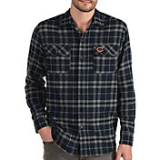 Antigua Men's Chicago Bears Stance Long-Sleeve Flannel Top