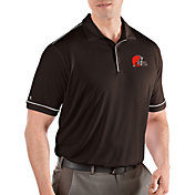 Antigua Men's Cleveland Browns Salute Dark Brown Polo