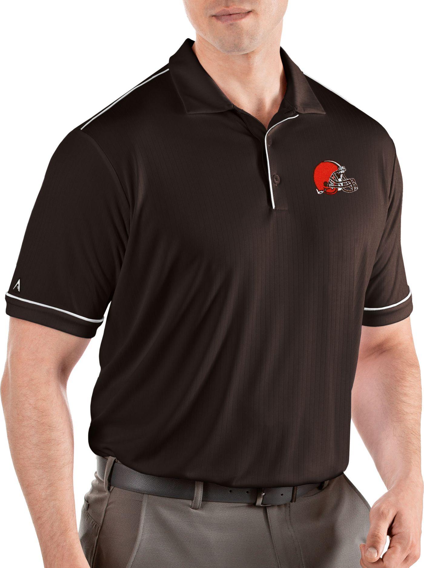 Antigua Men's Cleveland Browns Salute Dark Brown Polo