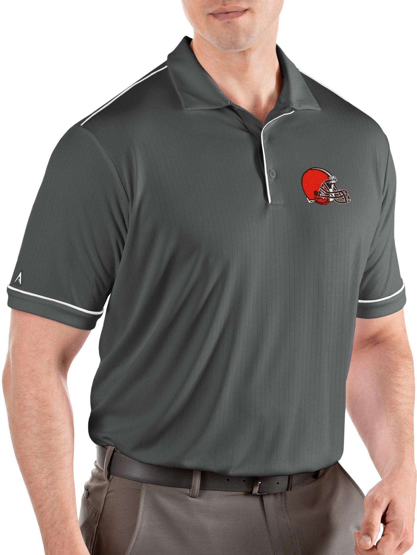 Antigua Men's Cleveland Browns Salute Grey Polo