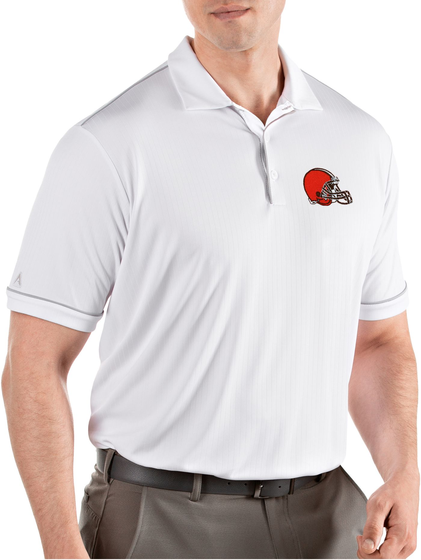 Antigua Men's Cleveland Browns Salute White Polo