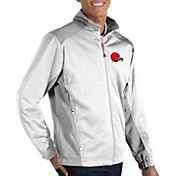 Antigua Men's Cleveland Browns Revolve White Full-Zip Jacket