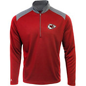 Antigua Men's Kansas City Chiefs Velocity Red Quarter-Zip Pullover