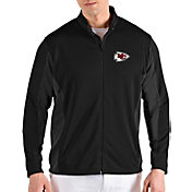 Antigua Men's Kansas City Chiefs Passage Black Full-Zip Jacket
