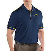 Antigua Men's Los Angeles Chargers Salute Navy Polo