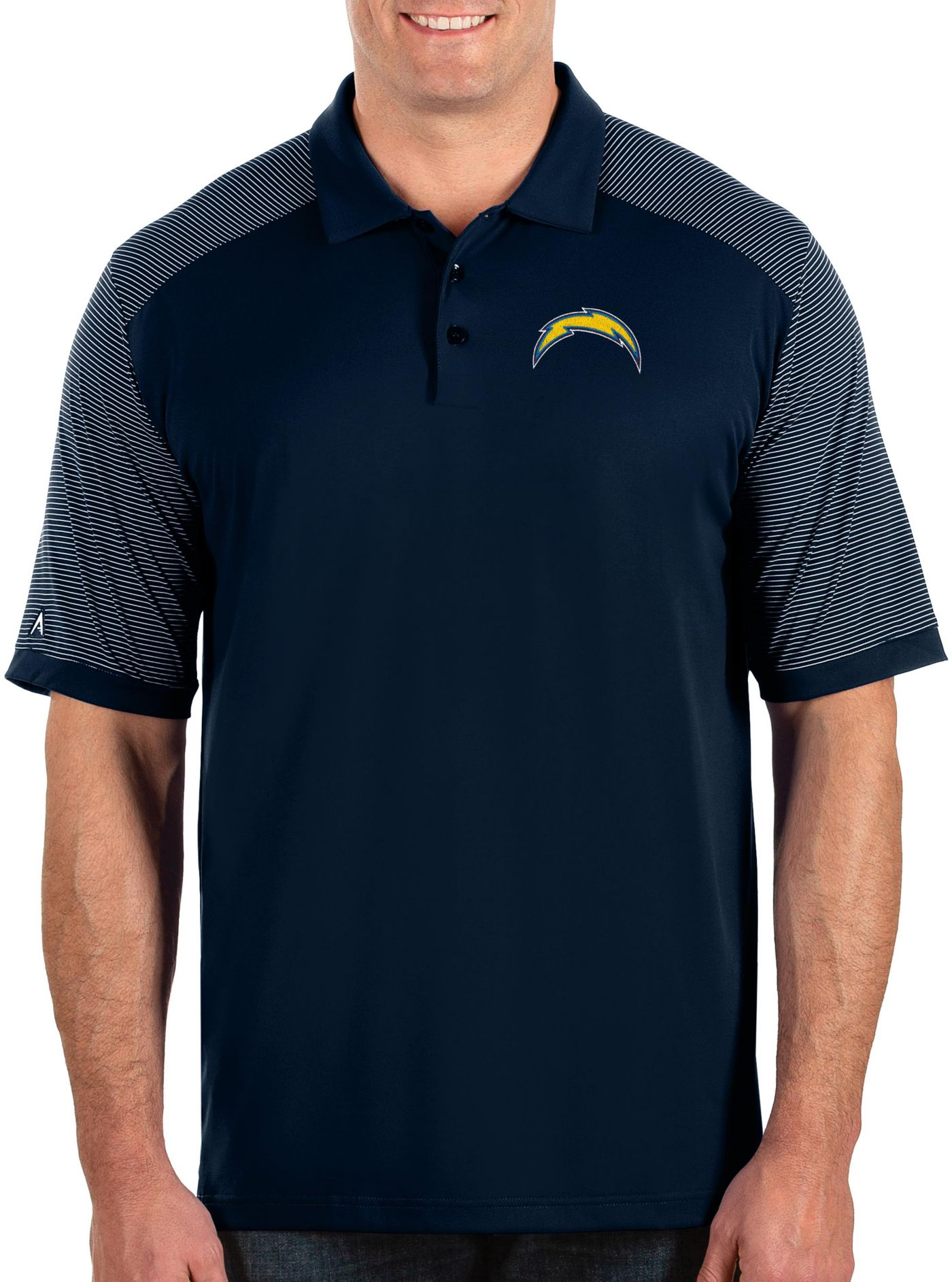 Antigua Men's Los Angeles Chargers Engage Performance Navy Polo