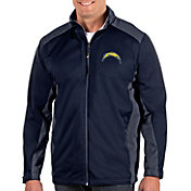 Antigua Men's Los Angeles Chargers Revolve Navy Full-Zip Jacket