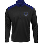 Antigua Men's Indianapolis Colts Velocity Black Quarter-Zip Pullover