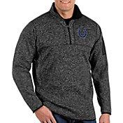 Antigua Men's Indianapolis Colts Fortune Black Quarter-Zip Pullover