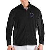 Antigua Men's Indianapolis Colts Passage Black Full-Zip Jacket