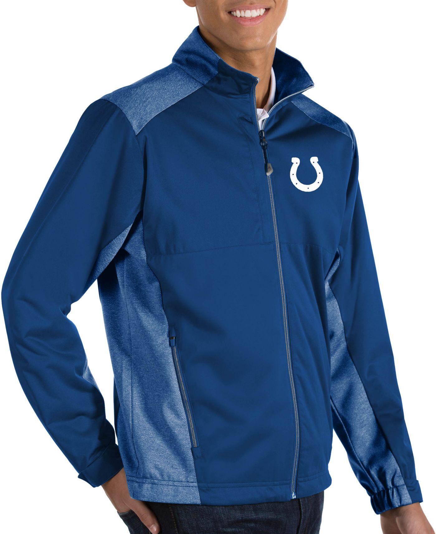 Antigua Men's Indianapolis Colts Revolve Blue Full-Zip Jacket