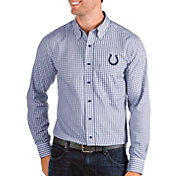 Antigua Men's Indianapolis Colts Structure Button Down Royal Dress Shirt