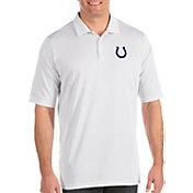Antigua Men's Indianapolis Colts Quest White Polo