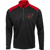 Antigua Men's Arizona Cardinals Velocity Black Quarter-Zip Pullover