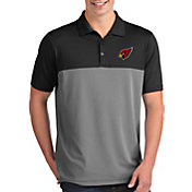 Antigua Men's Arizona Cardinals Venture Black Performance Polo