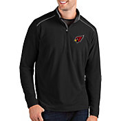 Antigua Men's Arizona Cardinals Glacier Black Quarter-Zip Pullover