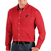 Antigua Men's Arizona Cardinals Dynasty Button Down Red Dress Shirt