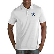 Antigua Men's Dallas Cowboys Quest White Polo