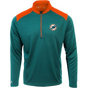 Antigua Men's Miami Dolphins Velocity Black Quarter-Zip Pullover