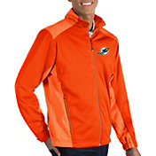 Antigua Men's Miami Dolphins Revolve Orange Full-Zip Jacket