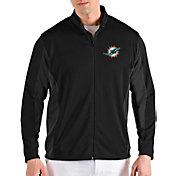 Antigua Men's Miami Dolphins Passage Black Full-Zip Jacket