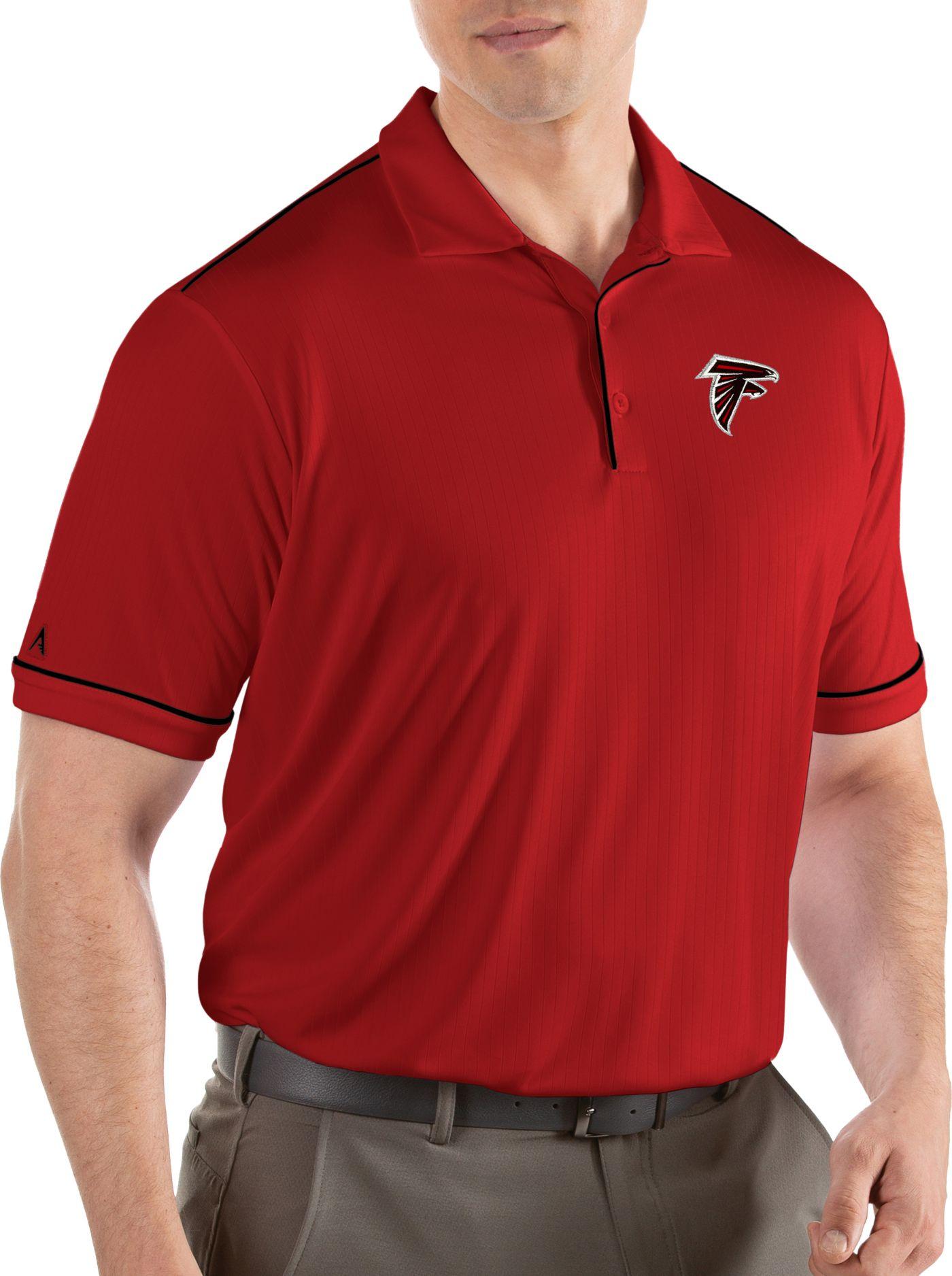 Antigua Men's Atlanta Falcons Salute Red Polo