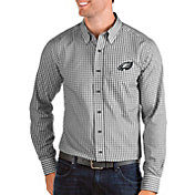 Antigua Men's Philadelphia Eagles Structure Button Down Black Dress Shirt