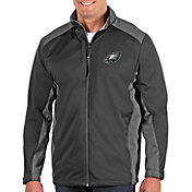 Antigua Men's Philadelphia Eagles Revolve Charcoal Full-Zip Jacket