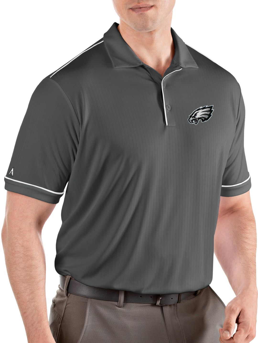 watch b12c2 168c7 Antigua Men's Philadelphia Eagles Salute Grey Polo