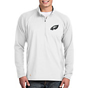 Antigua Men's Philadelphia Eagles Sonar White Quarter-Zip Pullover