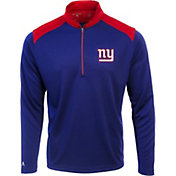 Antigua Men's New York Giants Velocity Royal Quarter-Zip Pullover